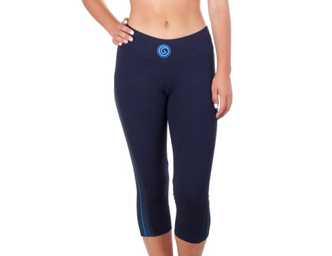 Power Fit Capri - European Activewear - Black/Blue