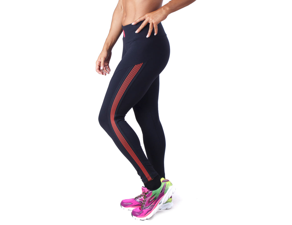 Power Fit Leggings - European Activewear - Black/Red