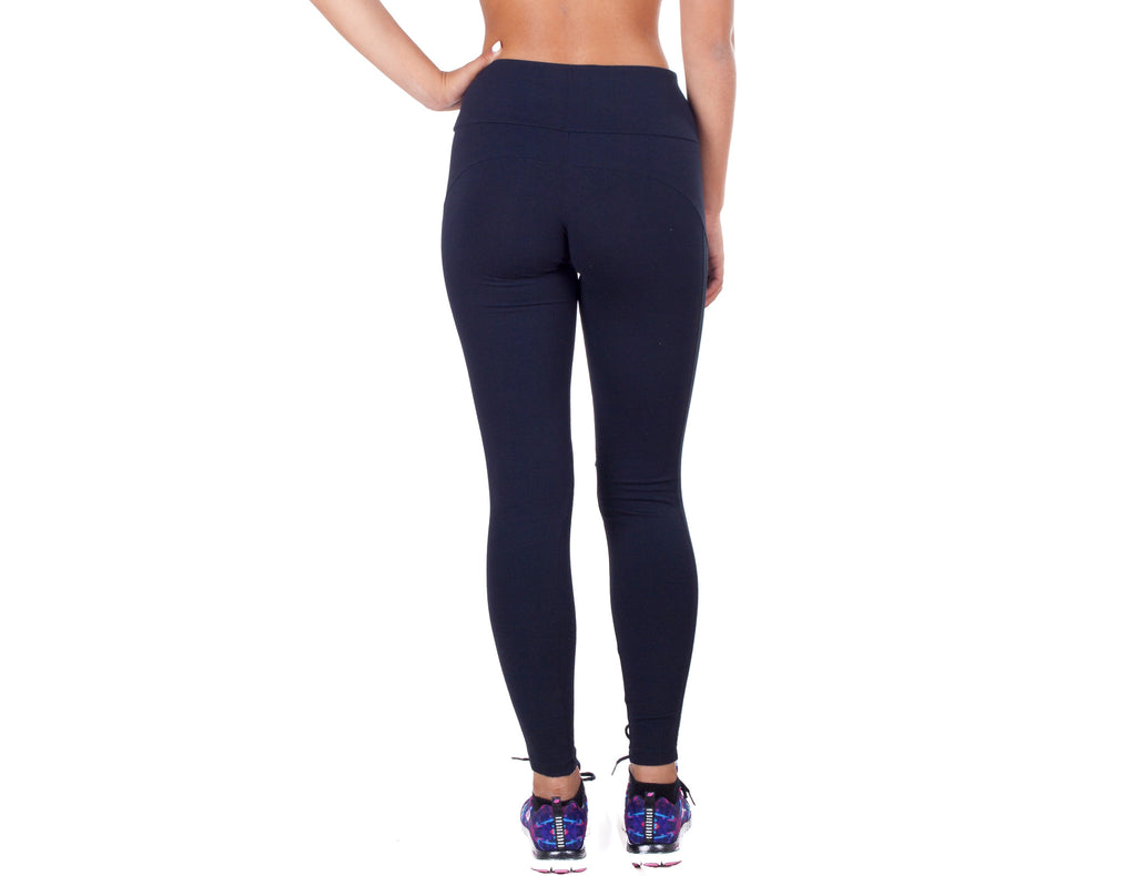 Power Fit Leggings - European Activewear - Black/Blue