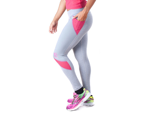 Look Lady Legging - European Activewear - Grey/Fuchsia