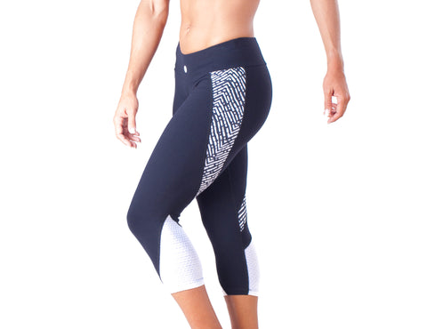 White Black Capri - European Activewear