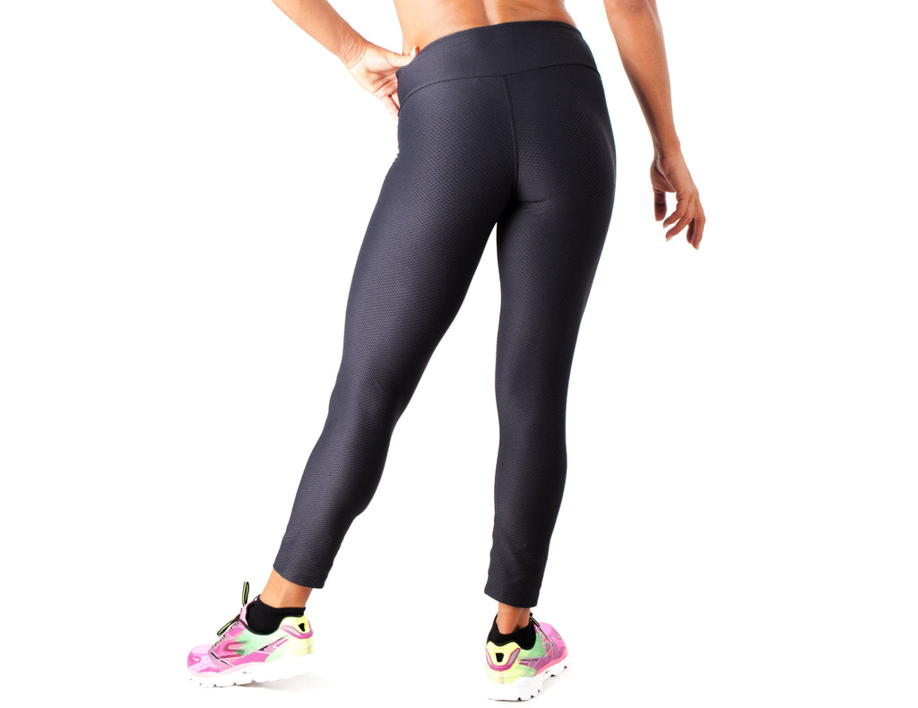Black White Legging - European Activewear - Black