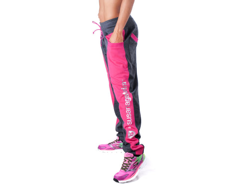 Look Lady Joggers - European Activewear - Black/Pink