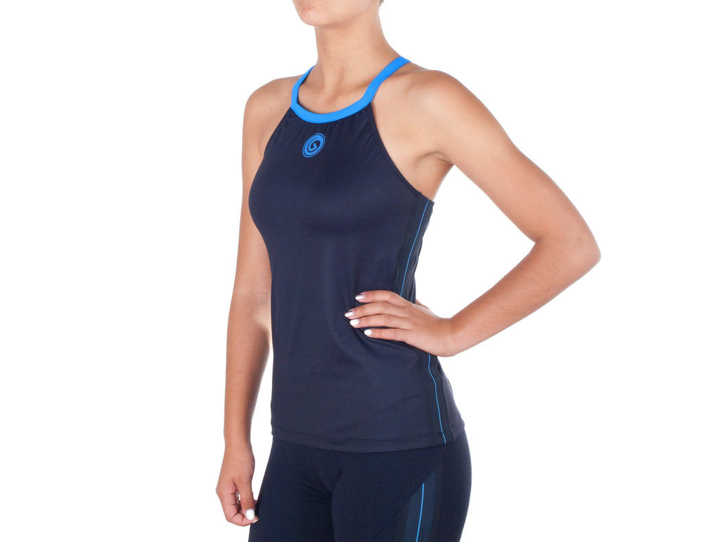 Power Fit Top - European Activewear - Black/Blue
