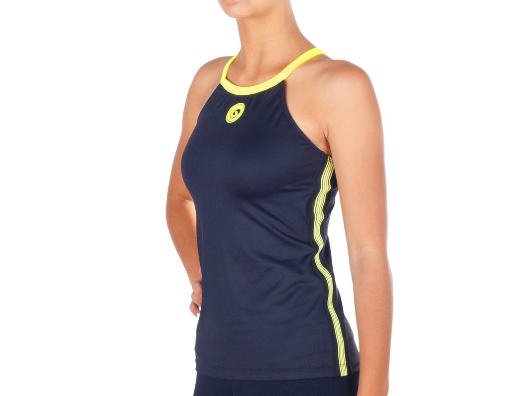 Power Fit Top - European Activewear - Black/Yellow