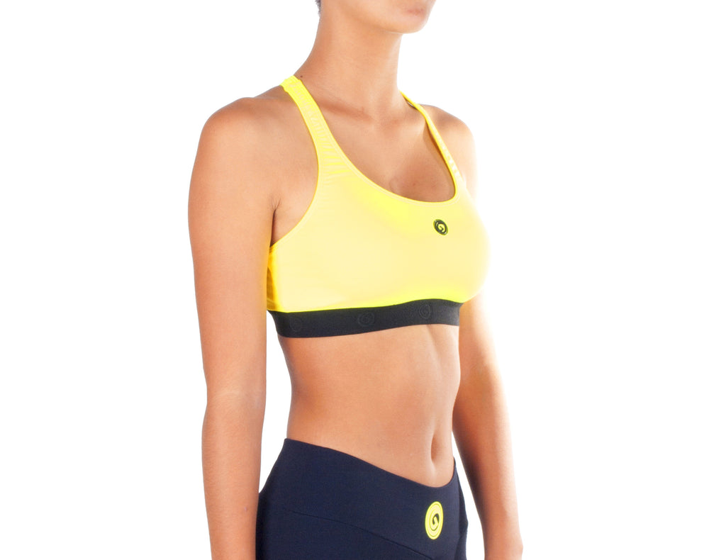 Power Fit Sports Bra - European Activewear - Yellow/Black