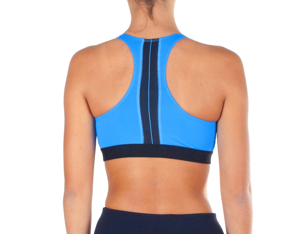 Power Fit Sports Bra - European Activewear - Blue/Black