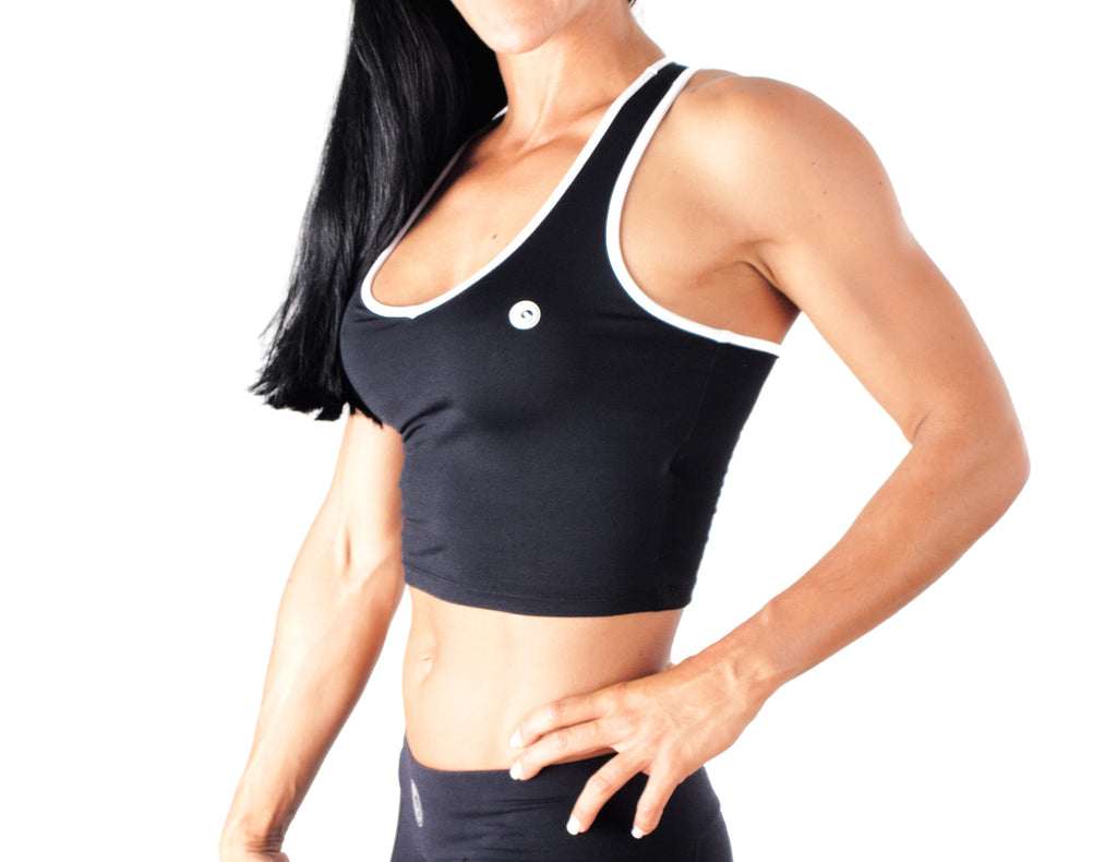 Black White Top - European Activewear