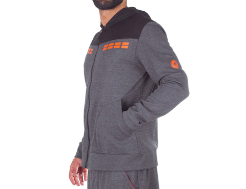 No Fear Hooded Jacket - European Activewear - Grey\Black