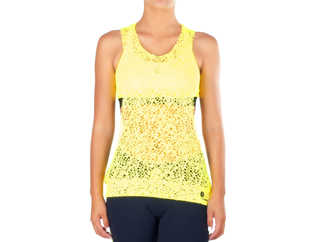 Power Fit Low Cut Top - European Activewear - Yellow