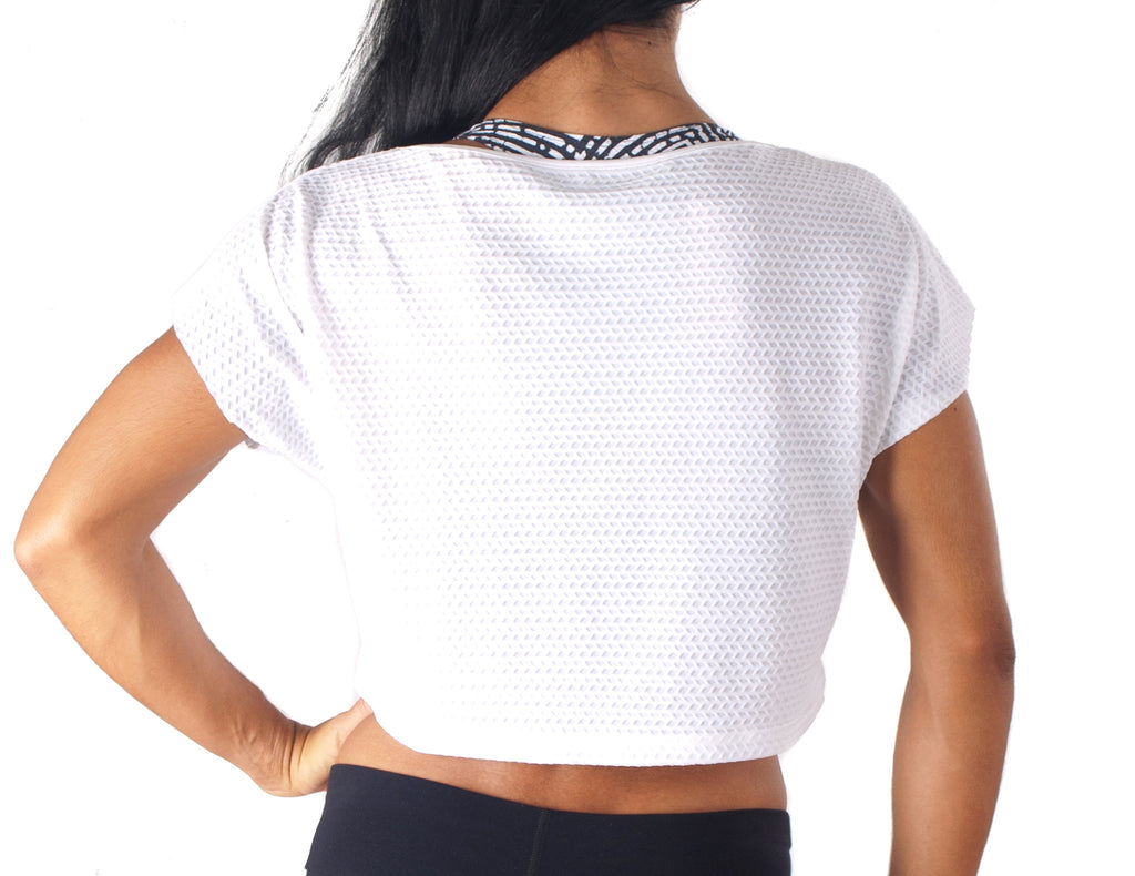 Black White T-Shirt - European Activewear - White