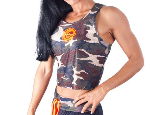 Orange Army Top - European Activewear