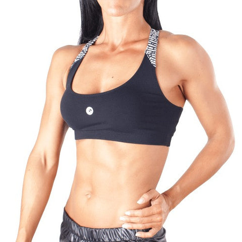 Black White Sports Bra - European Activewear