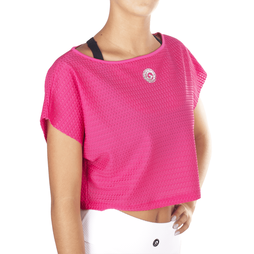 Black White T-Shirt - European Activewear - Pink