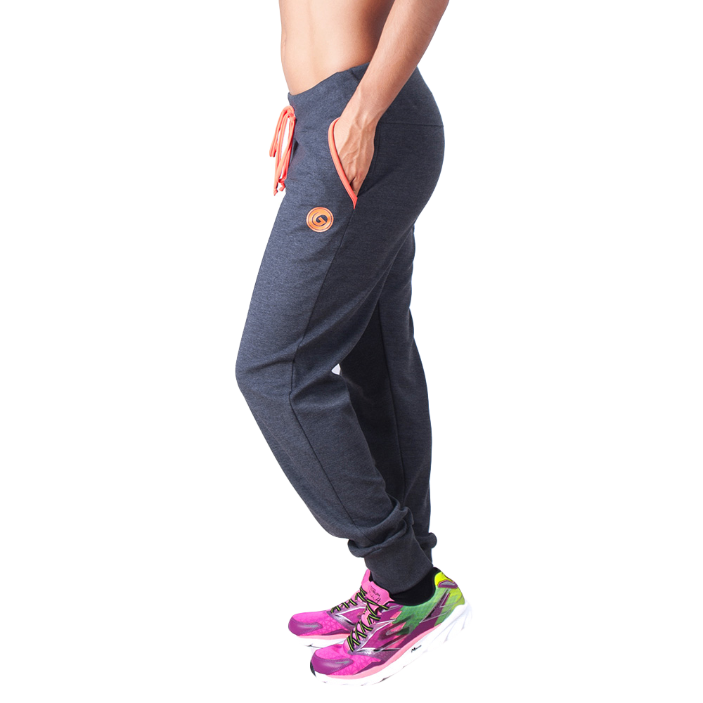 Electric Print Joggers  - European Activewear - Grey/Orange