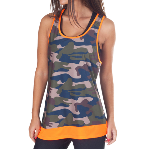 Orange Army Loose Top - European Activewear