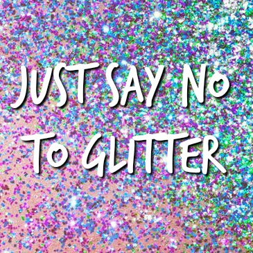 ladies in your 40s, say no to glitter