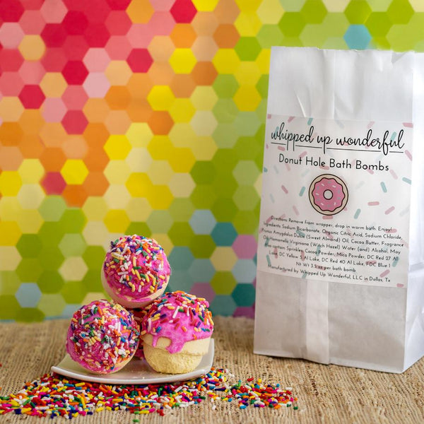 Doughnut Hole Bath Bombs - Whipped Up Wonderful
