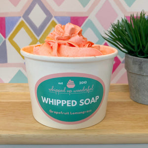 Grapefruit Lemongrass Whipped Soap - Whipped Up Wonderful