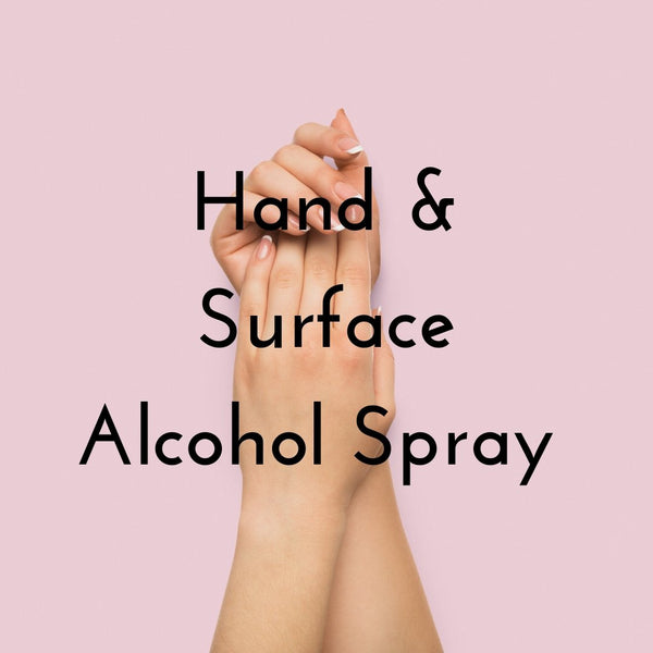 Hand and Surface Alcohol Spray - Whipped Up Wonderful