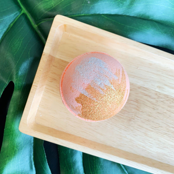 Imperfect Ginger Peach Bath Bomb - Whipped Up Wonderful