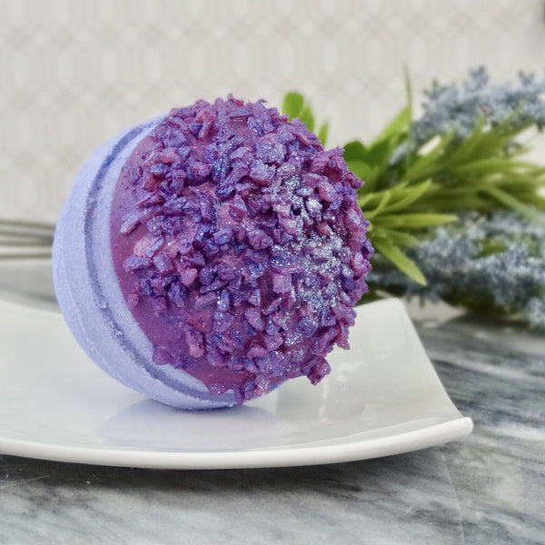 Imperfect Lavender Druzy Bath Bomb - Whipped Up Wonderful
