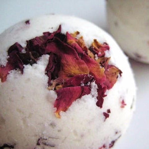 Imperfect Romance Rose Petals Bath Bomb - Whipped Up Wonderful