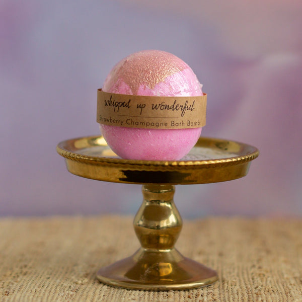 Imperfect Strawberry Champagne Bath Bomb - Whipped Up Wonderful