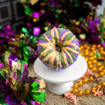 Mardi Gras King Cake Bath Bomb - Whipped Up Wonderful