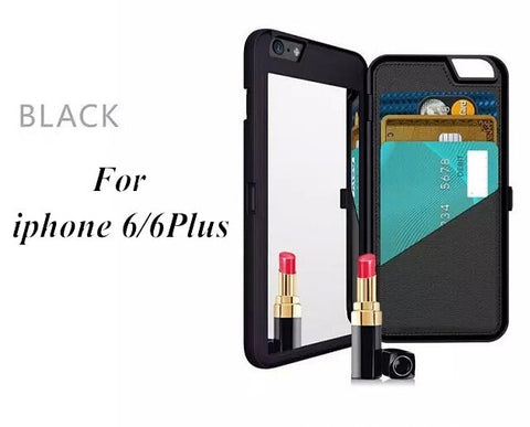 iPhone 6 & 6 Plus Wallet Mirror Case