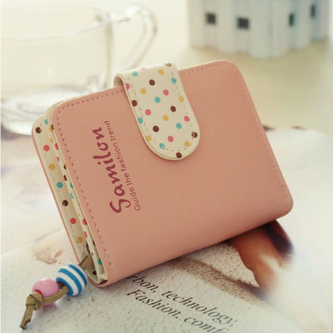 Dots Leather Multiple Cards Holder Wallet