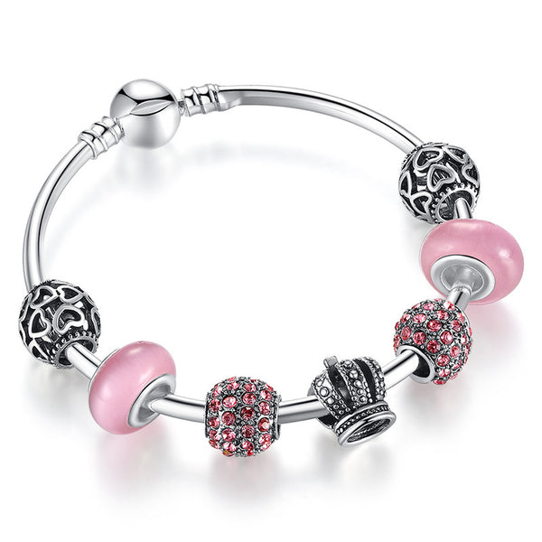 Charm Bangle with Open Your Heart