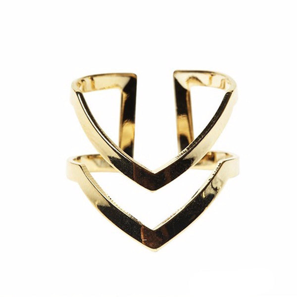 Double V-shaped Ring