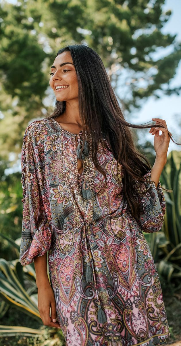 Short Paisley Tunic Meredith
