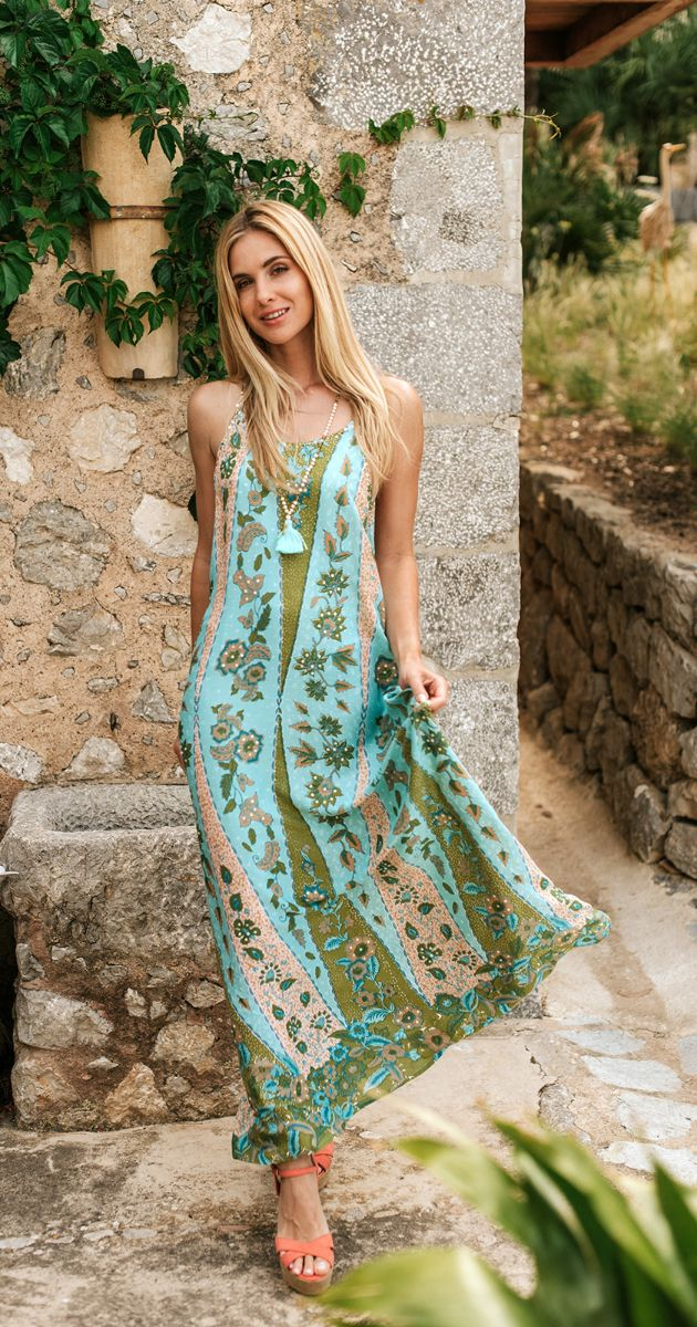 Giana Long Paisley Dress