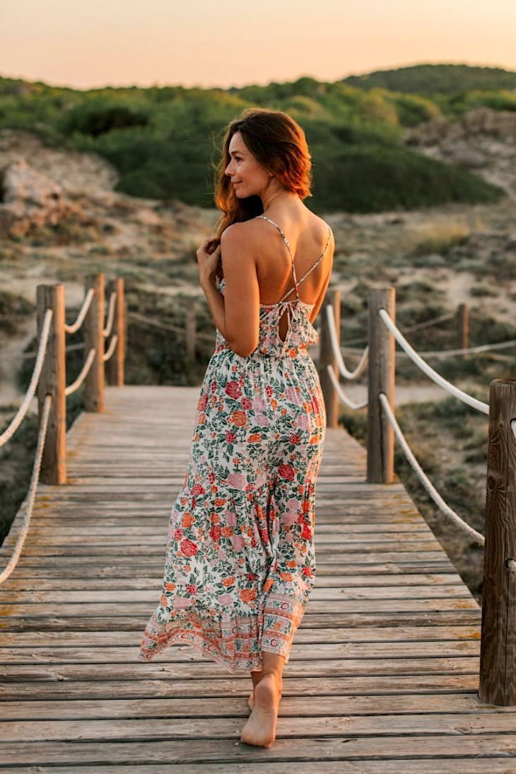STARLIGHT LONG DRESS // TERRACOTTA FLOWER