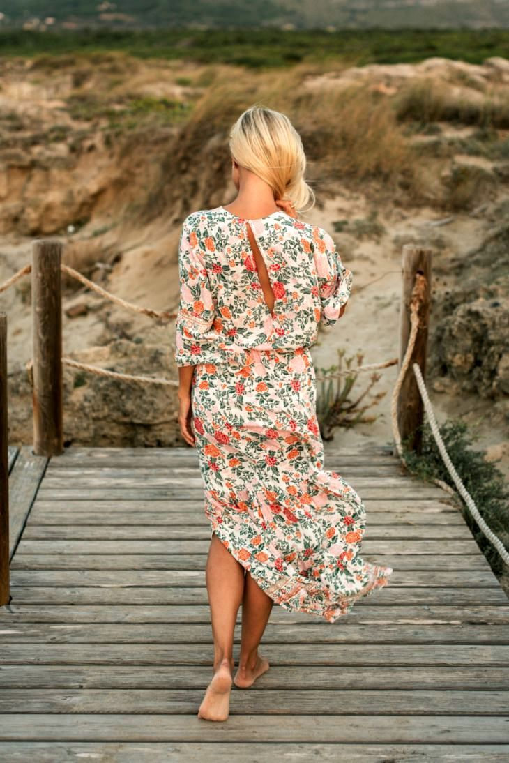 SAGE MAXI DRESS // TERRACOTTA FLOWER