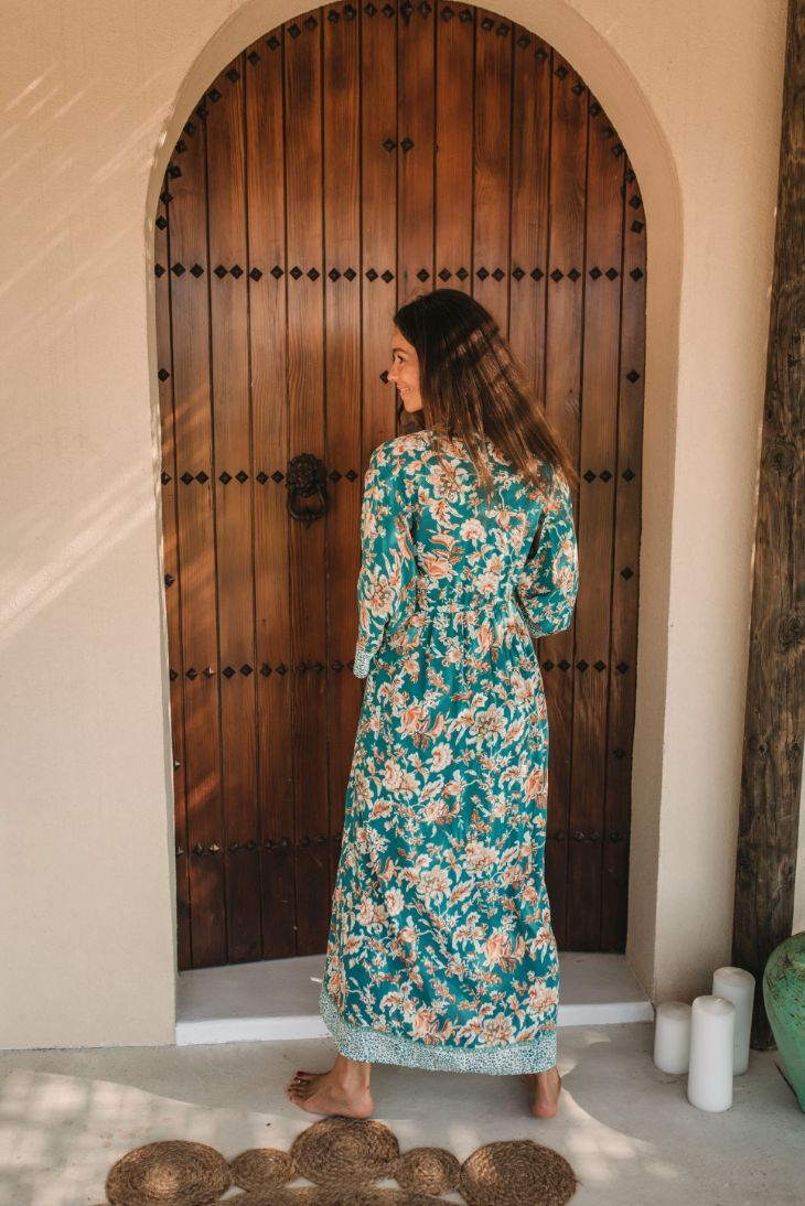 CHENOA DUSTER DRESS // TERRACOTTA FLOWER