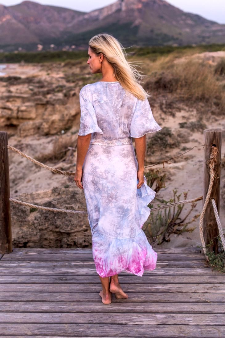 MOANA LONG DRESS // SOFT CLOUDS TIE DYE