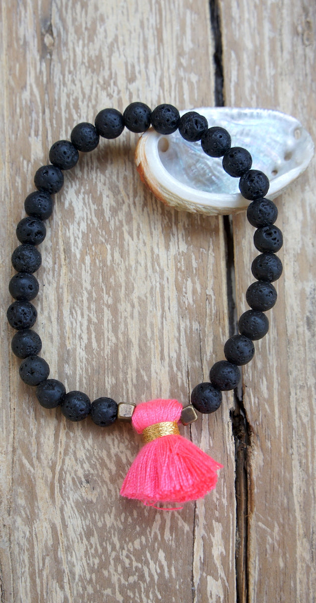 Lava Bracelet Single Tassel