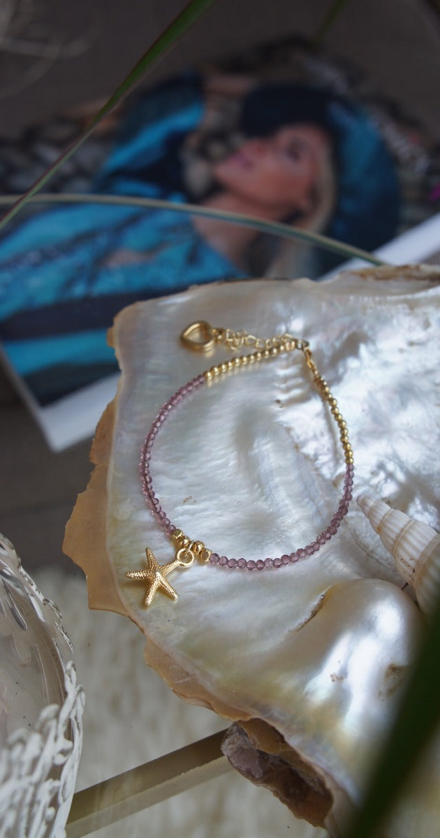 Amethist Bracelet with Starfish