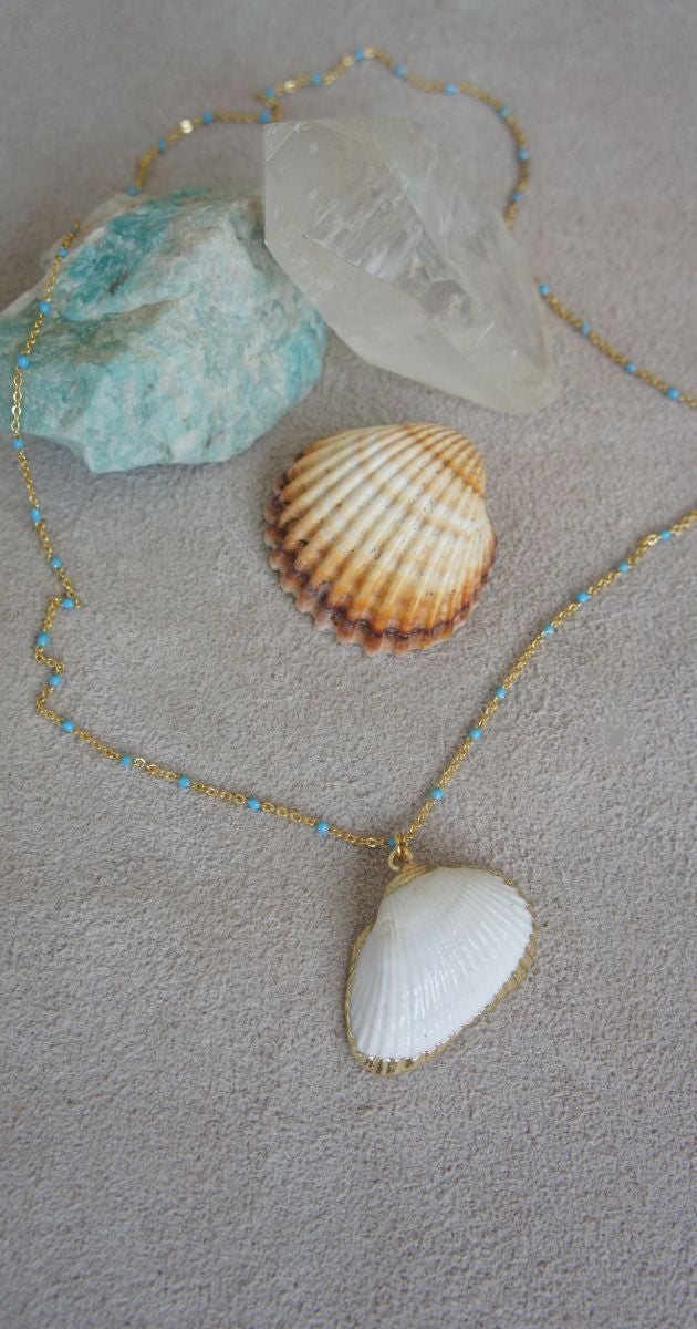 Fine gold chain with shell