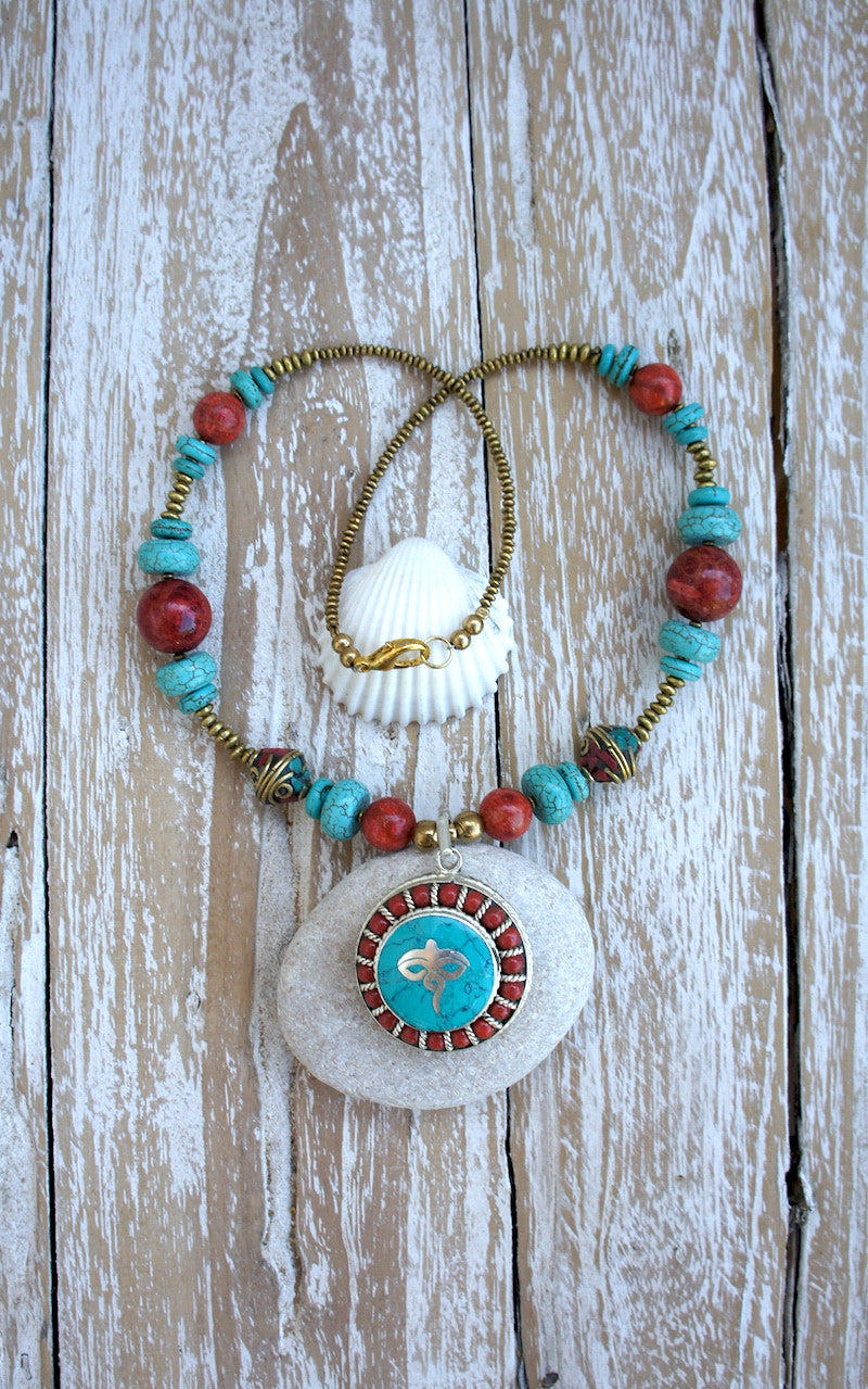 Antique amulet necklace