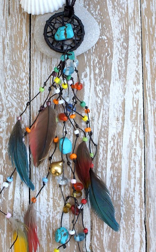 Baby Dreamcatcher Feather Necklace