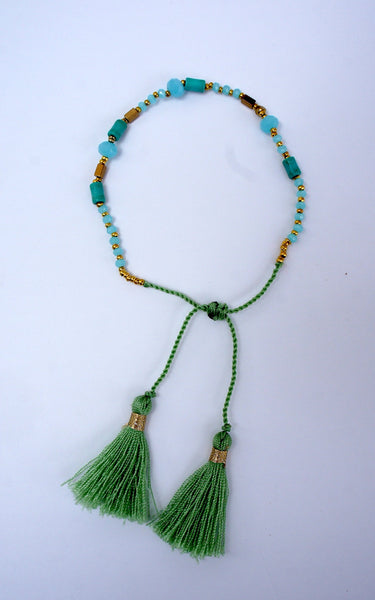 Turquoise Tassel Coral