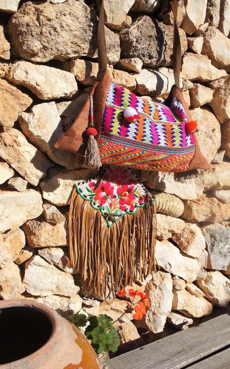 Hill Tribe Bag Leather Top