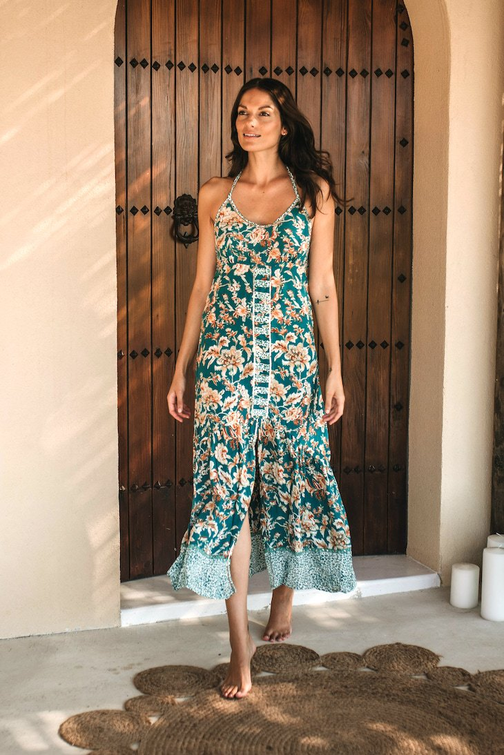 HARMONY LONG DRESS // TERRACOTTA FLOWER