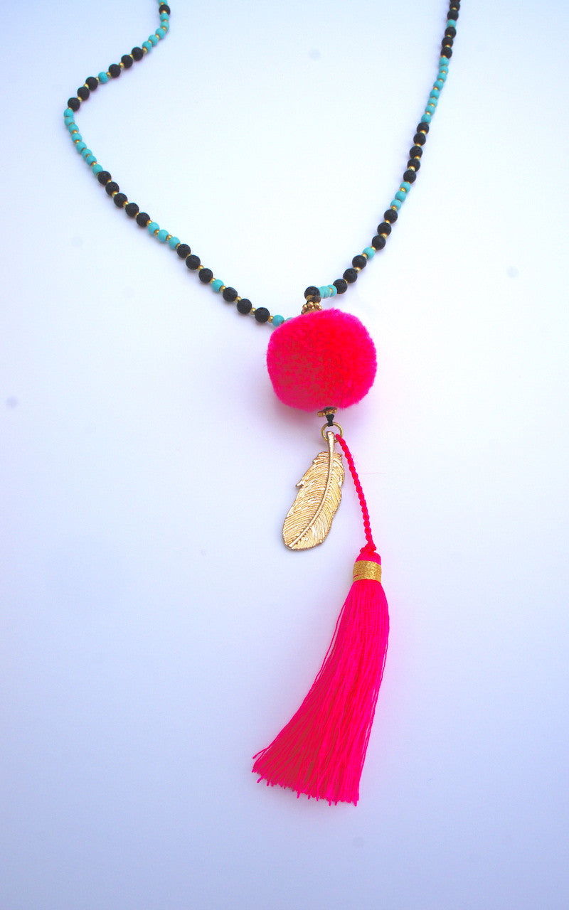Pom Feather Tassel