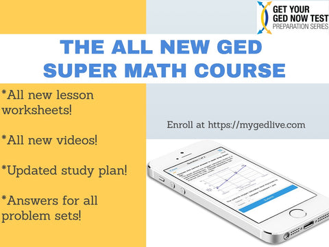 Save $30 Off the All New GED Super Math Course!