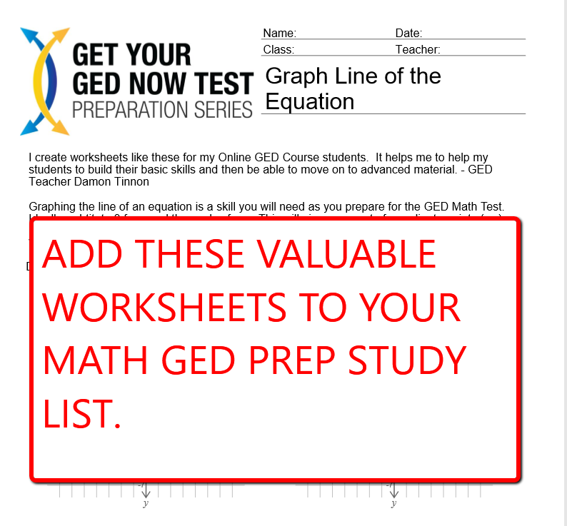 GED Math Worksheets